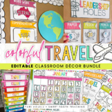 Colorful Travel Theme Classroom Decor Kit
