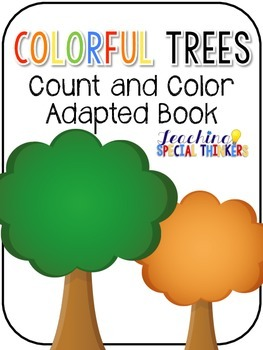 Colorful Trees Count and Color Adapted Book