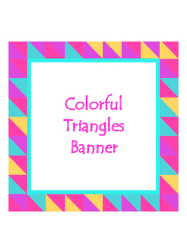 Colorful Triangle Banner