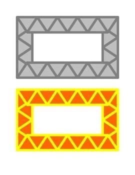 Colorful Triangle Borders