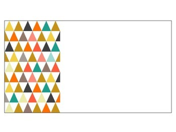 Colorful Triangle Classroom Labels