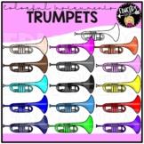 Colorful Trumpets Clip Art Set {Educlips Clipart}