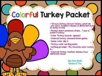 Colorful Turkey Packet