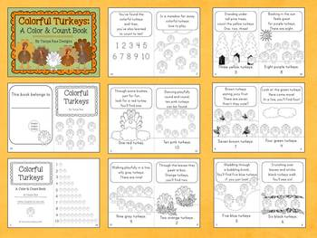 Colorful Turkeys: A Color & Count Book