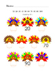 Colorful Turkeys Counting by 10s to 100 Thanksgiving Autum