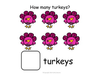 Colorful Turkeys - Matching, Counting, Patterning - Activity Unit