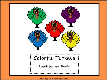 Colorful Turkeys Math Emergent Reader