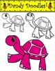 Colorful Turtles Clip Art by Dandy Doodles
