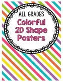 Colorful Two-Dimensional Shape Posters