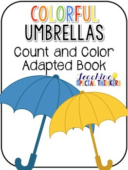 Colorful Umbrellas Count and Color Adapted Books