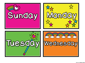 Colorful Unicorn Calendar Pack