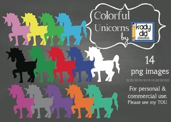 Colorful Unicorns {14 images} for personal and commercial use