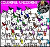 Colorful Unicorns Clip Art Bundle {Educlips Clipart}