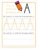 Colorful Uppercase Alphabet Handwriting Practice