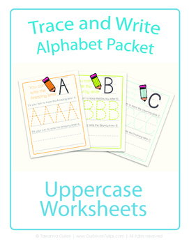 Colorful Uppercase Alphabet Handwriting Practice