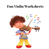 Colorful Violin Worksheets for your students
