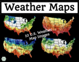 Colorful Weather Maps - Clipart