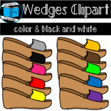 Colorful Wedge Shoe Clipart