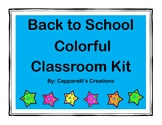 Colorful Welcome Back Packet