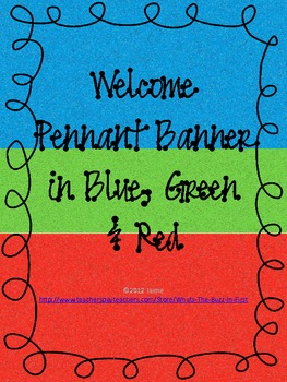 Colorful Welcome Pennant Banner