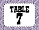Colorful Western Table Numbers