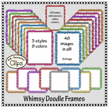 Colorful Whimsy Doodle Frames
