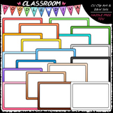 Colorful Whiteboards Clip Art - Dry Erase Boards Clip Art