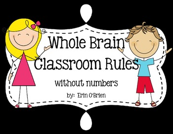 Colorful Whole Brain Teaching Classroom Rules Set {without numbers}