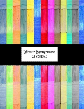 Colorful Wicker Digital Background Papers