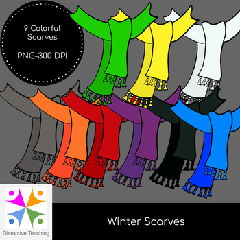 Winter Clothing Clip Art- Scarves
