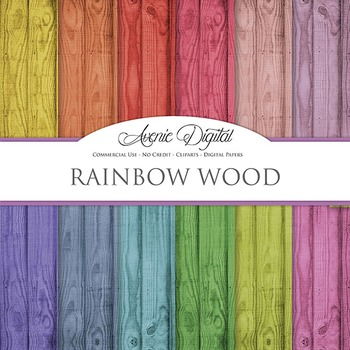 Colorful Wood Digital Paper fence wood grain textures scrapbook background