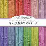 Colorful Wood Digital Paper fence wood grain textures scrapbook background