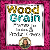 Colorful Wood Grain Frames for Binders & Product Covers