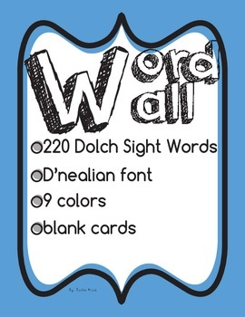Colorful Word Wall