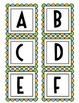Colorful Word Wall Alphabet {Blue, Green & Light Orange}