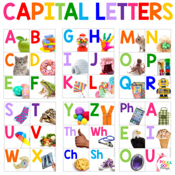 Colorful Word Wall Cards with Photographs