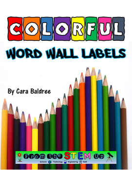Colorful Word Wall Labels (Circles)