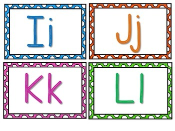 Colorful Word Wall Letters