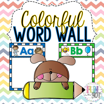 Colorful Word Wall with Pre-Primer and Primer Words!
