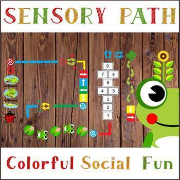 Colorful, Word and Weather Floor Sensory Path set + Bonus Editable Hopscotch