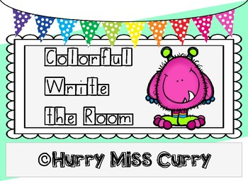Colorful Write the Room