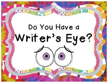 Colorful Writer's Eye Poster Set