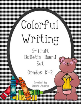 Colorful Writing 6-Trait Bulletin Board Set