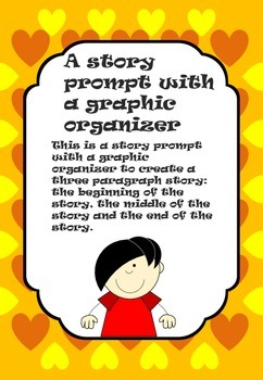 Colorful Writing Prompt and Graphic Organizer  a character coming out of the TV