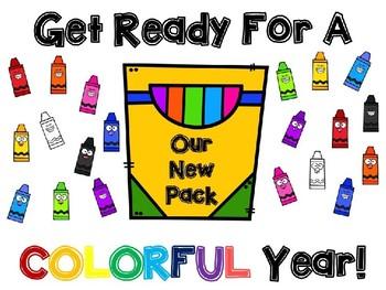 Colorful Year Bulletin Board Set - Editable