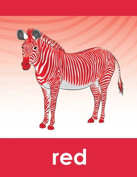 Colorful Zebra Classroom Theme Art (Part 2)
