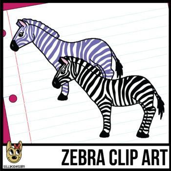 Colorful Zebra Clipart