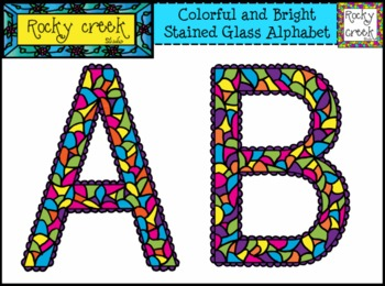 Colorful and Bright Alphabet Letters ABC Clip Art Set !