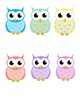 Colorful and Cute Owls: Clip Art!