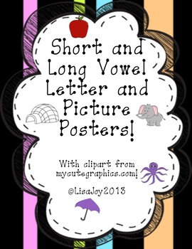 Colorful and Fun Long and Short Vowel Posters!